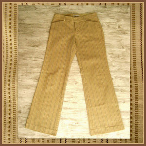 Gap Stretch Tan Striped Pants sz 0